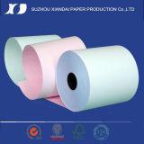 Rollo de papel de alta calidad de NCR 76mm X 76mm 2-Ply NCR Rollo de papel de 2 pliegues NCR Registradora Rollo de papel de 2 pliegues POS Rollo de papel de 76mm 2-Ply Rollo de papel autocopiativo