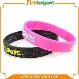 Stampa personalizzata/braccialetto del silicone marchio di Debossed