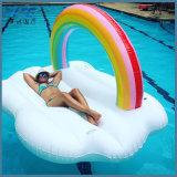 Stuk speelgoed van het Water van de Vlotter van de Pool van de Vlotter van Gaint van de Wolk van de regenboog het Opblaasbare Zwemmende