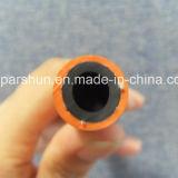 Boyau tressé de gaz de LPG de fibre matérielle en caoutchouc résistante d'huile d'oranges avec 3/16 ''