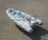 Barco inflable rígido del barco de la fibra de vidrio de Aqualand 16feet los 4.8m/de motor de la costilla (rib480t)