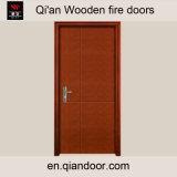 Porte composée en bois Incendie-Évaluée de placage de Macore