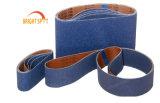 Les courroies de ponçage de plancher/courroies abrasives/zircone chiffon abrasif/étroite ceinture