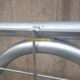 Cancello galvanizzato dell'azienda agricola della rete metallica