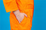 Vêtements de travail de combinaison de sûreté de chemise du polyester 35%Cotton de 65% longs avec r3fléchissant (BLY1017)
