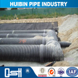 Medio ambiente verde de plástico de HDPE Tubo bobinado de acero