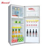 Frigorifero del frigorifero del doppio portello di uso della casa di colore rosso con la serratura