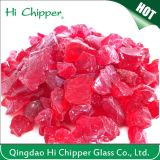 De rode Gekleurde Gebouwde Spaanders van het Glas van de Steen