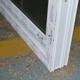格子白いカラーUPVCプロフィールの引き戸K02035が付いている二重ガラス