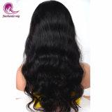 加工されていないバージンのインドの毛のかつらの自然な波の自然で黒く安い価格