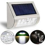 Indicatore luminoso della parete del sensore di movimento di energia solare PIR del LED esterno