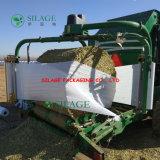 Película de estiramento branca da ensilagem da agricultura para a embalagem da grama
