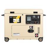 優秀な消音装置(5kVA)が付いている黄色いディーゼル発電機