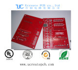 De rode Fr4 PCB Afgedrukte Raad van de Kring met Uitstekende kwaliteit