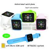 사탕 색깔 SIM 카드 구멍 (G11)를 가진 지능적인 시계 전화