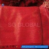 Venda a quente 45*75cm saco de malhagem PP vermelho para as cebolas de embalagem