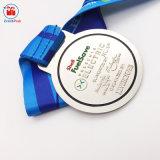 Azione commemorative della medaglia dell'OEM del metallo di placcatura professionale dell'argento