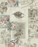 Nuovo Design Decorative Wall Paper con Animal e Floral