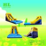 Jeux d'eau jaune et bleu de l'eau gonflable Faites glisser pour les enfants