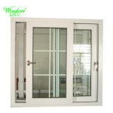 Fenster des weißer Rahmen-einzelnes Glas-UPVC mit Gitter