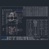Acero inoxidable ANSI 150 lb brida 2PC Válvula de bola flotante con placa de fijación