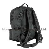 Grand sac noir de sac à dos d'armée militaire lourde (HY-B096)