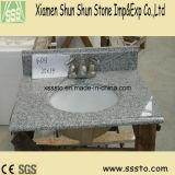 Brown lustrou as partes superiores de mármore da vaidade do banheiro do granito