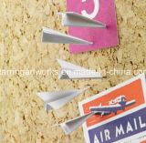 La forme d'avion en acier blanche le marquage de cartes Officemate Pousser les axes