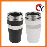 2018 termo de acero inoxidable de doble capa del automóvil Coche térmico aislado de taza de café, té, leche Drinkware Botella de agua de un diseño simple