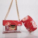 O designer de moda bordados PU Couro Bolsas da embreagem para senhoras (SH473)