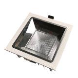 Rotondo/quadrato, durata 50000 ore, taglio a 10W/20W/30W/40W AC220-240V, angolo del fascio di 90mm/130mm/170mm Faretto a LED antiriflesso a 30°/45°