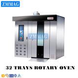 パン屋販売(ZMZ-32C)のための中国からの回転式ディーゼルラック32皿のオーブン