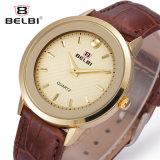 Belbi Mann-beiläufige Form-Serien-Quarz-Uhr-Leder-wasserdichte Legierungs-analoge Uhr