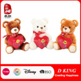 Três cores Valentine Stuffed Teddy Bears Plush Toy