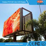 Schermo di visualizzazione esterno del LED della prova P10 SMD dell'acqua per fare pubblicità