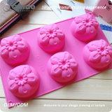 6 moldes huecos del silicón de las flores los 29.5*17.3*3.5cm para las tortas