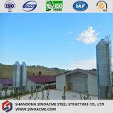 La volaille préfabriquée chaude chinoise de structure métallique de certificat d'OIN entreposent