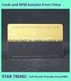 Goldene Karte mit magnetischem für hohe Verein