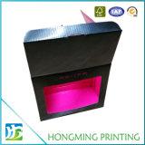 Embalaje de taza de cartón brillante negro Caja con ventana de PVC