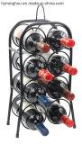 Het vrije Bevindende Countertop Zwarte Poeder Met een laag bedekte Rek van de Vertoning van de Wijn van het Metaal