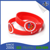 Bracelet fait sur commande de silicones de logo d'encre de Debossed de couleurs pour des sports