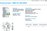 Tmm1-63 новый Н тип автомат защити цепи миниатюры