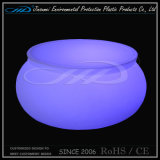 PE Material Roto Molding Plastic LED Coffee Table
