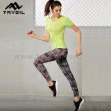 Pantaloni del reticolo che pareggiano gli abiti sportivi di attività dei pantaloni per le signore