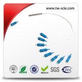 Singlemode Multimode Sc/PC - Koord van het Flard van de Vezel van Sc het Optische die op Optische Vezel CATV wordt toegepast