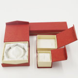 Caja de embalaje de la joyería de la Navidad del rectángulo del anillo del terciopelo (J01-E1)