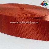 1.5 Zoll-orangeroter Twill-seitliches sperrendes Nylongewebtes material
