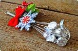 Großhandelsweihnachtszug-Bogen-Farbband-Blume für Geschenk-Verpackung