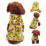 Pet Products Cartoon Waterproof Dog Raincoat avec quatre jambes