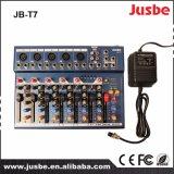 Jb-T7 7 Mezclador Canal de Videos de música de DJ Mezclador de audio con USB